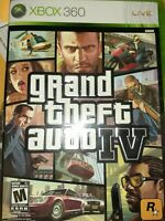 Grand Theft Auto IV Microsoft Xbox 360 2013 disc in case with cover gta 4 cars