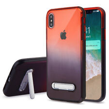 Apple iPhone XS Max Clear Hybrid Hard Kickstand Case Phone Cover + Screen Guard