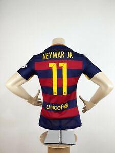 Nike FC Barcelona Home Jersey Neymar JR #11 2015/16 Adult Size S Football Shirt
