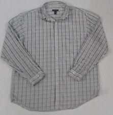 Van Heusen Men's Plaid Long Sleeve Button Down Shirt Large 16-16 1/2