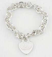 Tiffany & Co.Argento Sterling con Medaglietta Braccialetto con Ciondolo 19.1cm