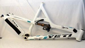 "Yeti 575 20.5"" Large Full Suspension MTB Bike Frame White/Teal Fox Float X CTD"