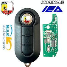 Chiave 🇮🇹 Chip elettronica COMPATIBILE  per FIAT 500 ABARTH TELECOMANDO