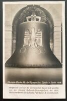 Mint 1936 Berlin Germany Olympics Bell Real Picture Postcard RPPC Youth