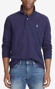 NWT!!Polo Ralph Lauren Men's Classic long sleeve Mesh Polo Shirt Navy SZ US S
