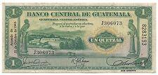 Guatemala Banco Central 1 Quetzal 1945 P14b Sub Gerente Sig 1 VF++-XF Bird Rare