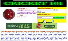 CRICKET101.COM  Domain name and monetized website! Lots of traffic, search rank!