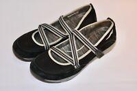 Women's Dansko Black Hilda Suede Walking Shoes Mary Jane  39