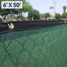 6' x 50' Fence Windscreen Privacy Screen Shade Cover Fabric Mesh Tarp, Green