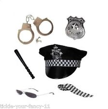 Women's Girls Policewoman Set Cop Fancy Dress Party Costume Police Kit Hen Hat