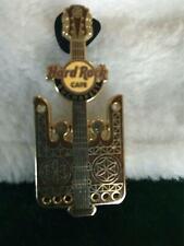 Hard Rock Cafe Pin Bucharest Traditional Door Guitar ~ Brown w Gold Designs