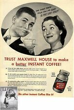 Maxwell House Coffee * 100% Pure Coffee * US-ADVERTISING 1947