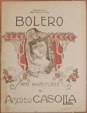 AMEDEO CASOLLA BOLERO MUSICA SPARTITI PIANOFORTE AUTOGRAFO CAROCCI LIBERTY PIANO