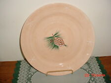 "HOME HOLIDAY ""NORTHWOODS LODGE"" 14 1/2"" PINE CONE SERVING PLATTER/FREE SHIP!"