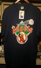Vintage 1988 California Angels 50/50 mens T Shirt- Sz XL BRIAN HARVEY AUTOGRAPH