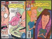 Beavis & Butt-Head Marvel Comics # 1 & 2 Near Mint 1993