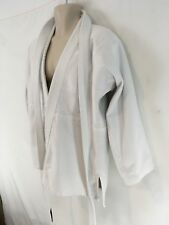 Gladiator White Cotton Tae Kwon Do Robe Top With Belt