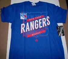 Brand  New Boy's Youth NHL New York Rangers Majestic Team Logo Cotton T-Shirt XL