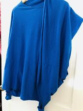 Women's MADE IN ITALY BLUE COTTON JERSEY LAGENLOOK LAYERING BNWT  TUNIC TOP OSFA