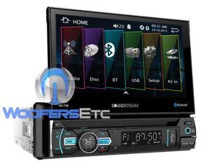 """BLUETOOTH IN-DASH 7"""" DVD CD MP3 WMA MP4 USB SD AUX AM FM RADIO TOUCHSCREEN TV"""