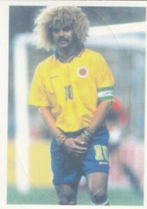 Football sticker CARLOS VALDERRAMA Montpellier Columbia Yug edition Bonart 1998