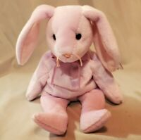 Ty Beanie Babies Floppity purple Rabbit Mint condition w/Tag protector Retired