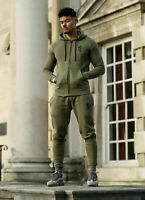 Gym King Mens Fleece Slim Olive Joggers Designer Tracksuit Jogging Sweat Pants