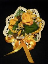 Vintage Cissy & others Fancy Yellow Doll Bouquet Old Warehouse find