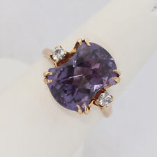 RARE VINTAGE SOLID 10K GOLD 5+ ctw ROSE-CUT ALEXANDRITE RING, 3.9 gm., size 5.25