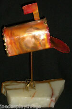 "Steve Andersen Designs Metal Mailbox Copper Stone 9"" Sculpture"