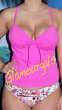 New Victorias Secret Forever Sexy Hot Pink  Miracle Bra Rhinestone Tankini 36A