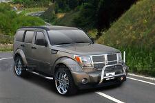 """09-13 Dodge Journey Stainless Bull Bar by Black Horse + 6"""" Round Fog Lights"""