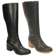 Block Heel 100% Leather Upper Regular Boots for Women
