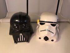 STAR WARS Handheld Stormtrooper and Darth Vader Walkie Talkie Set  -preowned