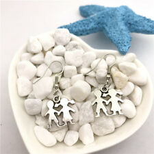 Boy And Girl Earrings Tibet silver Charms Earrings Charm Earrings for Her