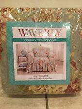Waverly Chair Slip Cover Ballad Bouquet In Robins Egg Floral Blue Green One NIP