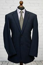 Skopes Single Breasted Navy Blue Wool Blend Suit Jacket 38R