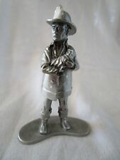 Vintage Pewter Fireman Holding A Baby