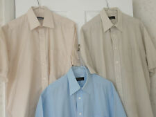 3 MEN'S SHORT SLEEVE SHIRTS FOR WORK/CASUAL WEAR,2 X BHS AND 1 TOM HAGAN