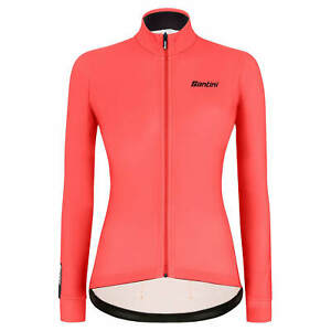 Women's Colore Long Sleeve Cycling Jersey in Orange - Size M - by Santini