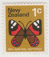 (NZK935) 1970 NZ 1c red Admiral butterfly (C)