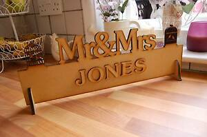 Mr & Mrs Top Table Wedding Decoration Sign (Blank Finish yourself) DIY Bride
