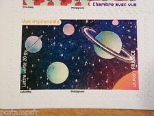 FRANCE 2015, TIMBRE AUTOCOLLANT LA VUE, ESPACE PLANETE neuf** MNH STAMP, PLANETS
