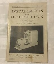 JE094 1936 Installation Operation Manual Jennings Norwork Con Heating Pump