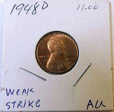 1948 D Wheat Cent Error  (weak strike)