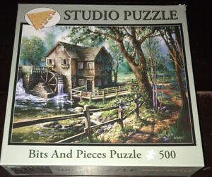 Bits And Pieces Jenny's Mill Sandra Bergeron 500 Piece Jigsaw Puzzle Artwork