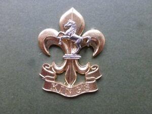 Kings Regiment ORs metal beret badge (2nd version)