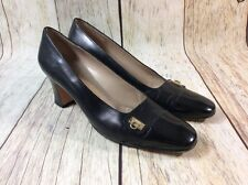 JL SALVATORE FERRAGAMO BLACK SHOES WOMENS SIZE 8 AA