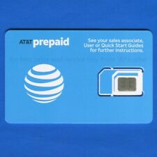 New AT&T Triple cut SIM card • Prepaid OR Postpaid • iPhone OR Android devices