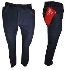 Jeans Levis 595 da Donna elasticizzati Vita Alta dritto denim levi's W26 W27 blu